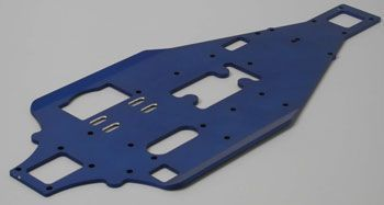 TRAX 4822 - Lower chassis aluminim 2,5mm blue (4-Tec)