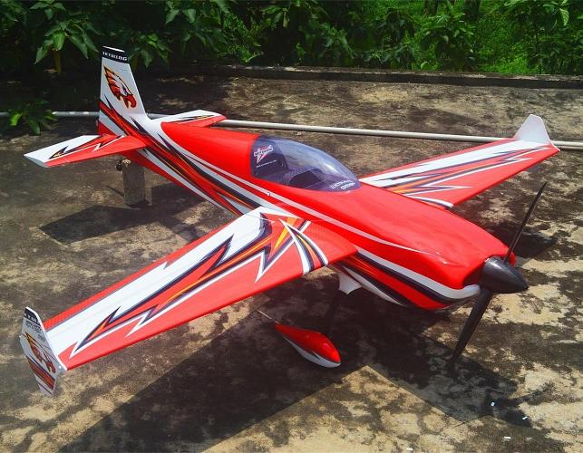 AEROMODELO EXTRA 300 VERMELHO - 101 POL 100/120CC - SKYWING