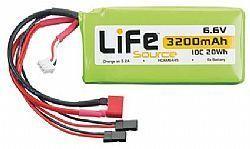 HCAM 6446 - Bateria LiFeSource LiFe 6.6V 3200mAh 10C Rx
