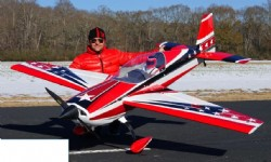 AEROMODELO 125 EXTRA 300 V2 EXP Red/Black/White (2 cylinder version) EXTREME FLIGHT