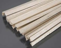 Vareta Triangular Balsa equatoriana 12mm x 12mm x 930mm