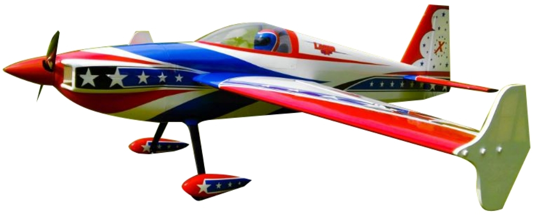 AEROMODELO 91 LASER EXP Printed Red/White/Blue SCHEME EXTREME FLIGHT