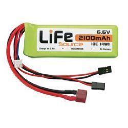 HCAM 6436 - Bateria LiFeSource LiFe 6.6V 2100mAh 10C Rx