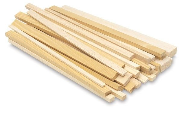 Basswood Strip 5mm x 5mm x 610mm - MIDA 4055