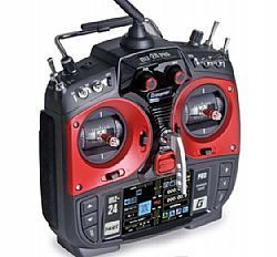 MZ-24 PRO 12 Channel 2.4G.HZ Radio Graupner TFT Radio System Mode 1/2 (Red)