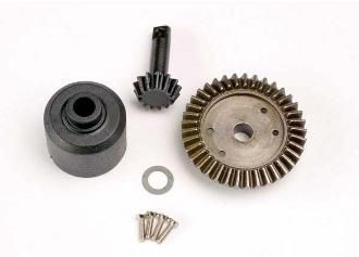 TRAX 4981 - Ring gear 37T, pinion 13T, diff carrier (TM-SM)