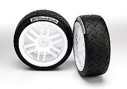 TRAX 7372R - TIRES AND WHEELS, ASSEMBLED, GLUED (SOFT COMPOUND) (2)