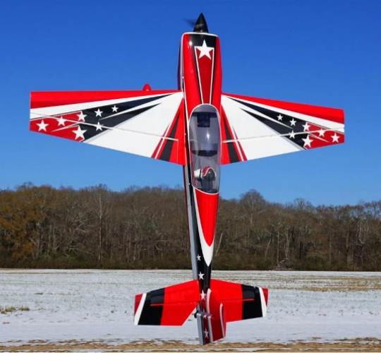AEROMODELO 104 EXTRA 300 V2 EXP RED/BLACK/WHITE EXTREME FLIGHT