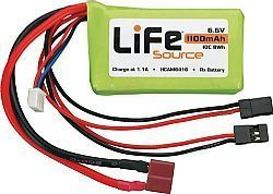 HCAM 6416 - Bateria LiFeSource 6.6V 1100mAh 10C Rx