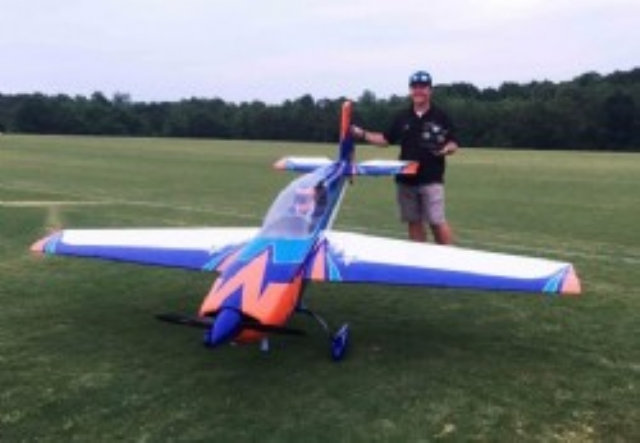 AEROMODELO 125 EXTRA 300 V2 EXP Orange/Blue (2 cylinder version) EXTREME FLIGHT
