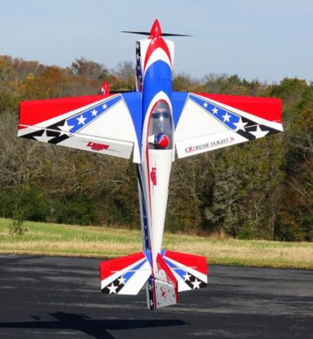 AEROMODELO 104 LASER EXP Printed Red/White/Blue SCHEME 120CC EXTREME FLIGHT
