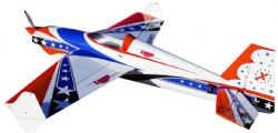 AEROMODELO 74 LASER EXP V2 Printed Red/White/Blue EXTREME FLIGHT