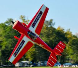 AEROMODELO 91 LASER EXP Traditional Red Scheme 60/70CC EXTREME FLIGHT